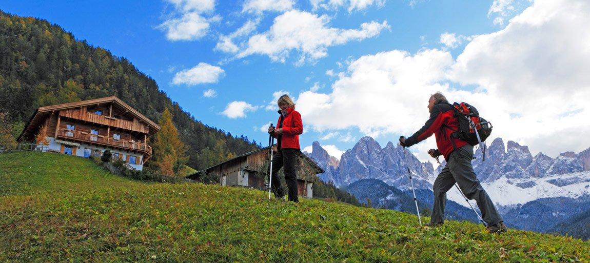 Wędrowanie w Dolomitach Park Natury Puez Geisler
